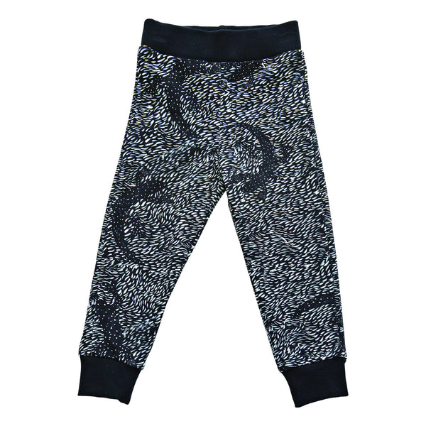 Black lizard sweatpants