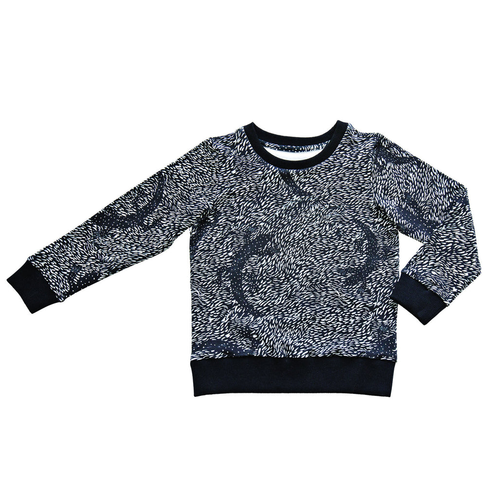 Black lizard sweatshirt
