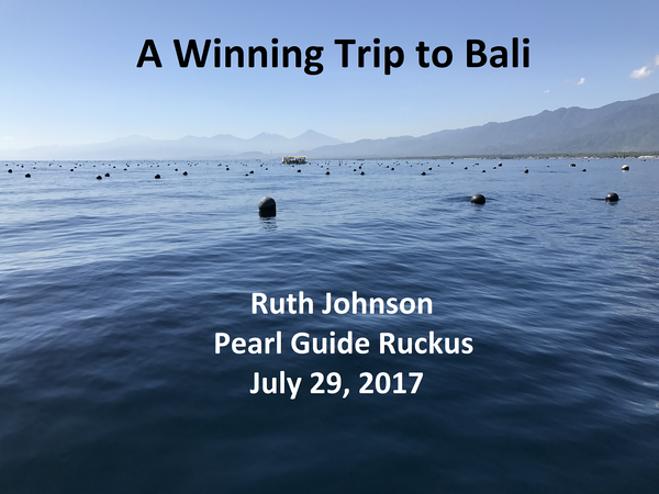 Ruth's Trip to Atlas' Pearl Farm in Bali, Indonesia