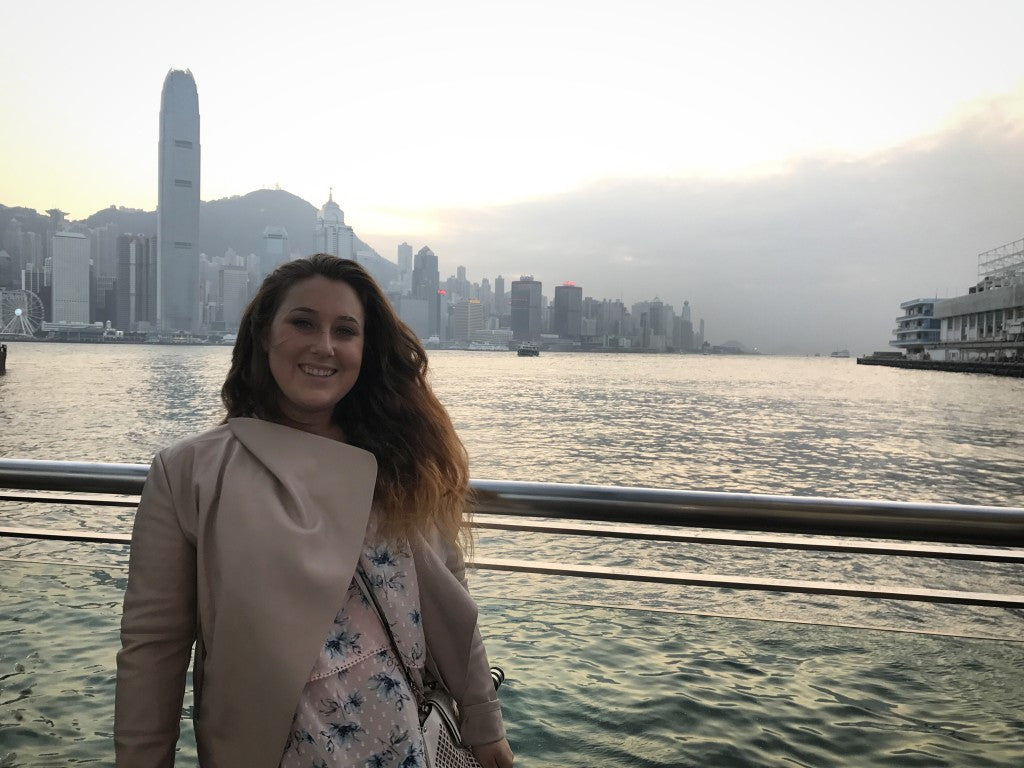 Just before getting on the ferry to go from Tsim Sha Tsui to Wanchai