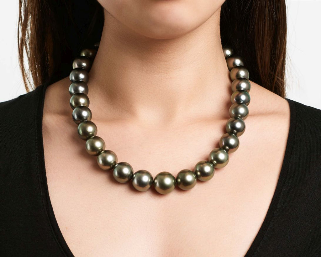 A giant strand of Tahitian pearls