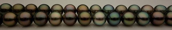 36 inches of exotic Tahitian pearls