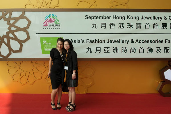 The entrance to the September Hong Kong Jewellry & Gem Fair - You can see the excitement in my eyes!