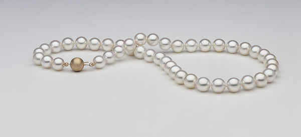 One perfect strand of white South Sea pearls