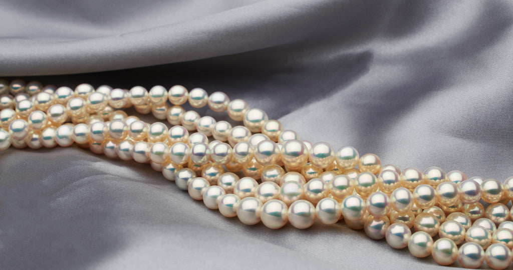 Six strands of Sheri's Screaming metallic pearls