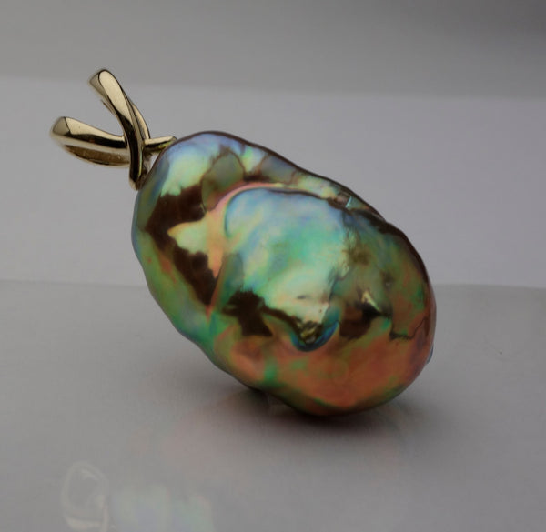 A soufflé pearl pendant that will be featured on Black Friday