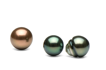 Tahitian Pearl Shapes and Colors