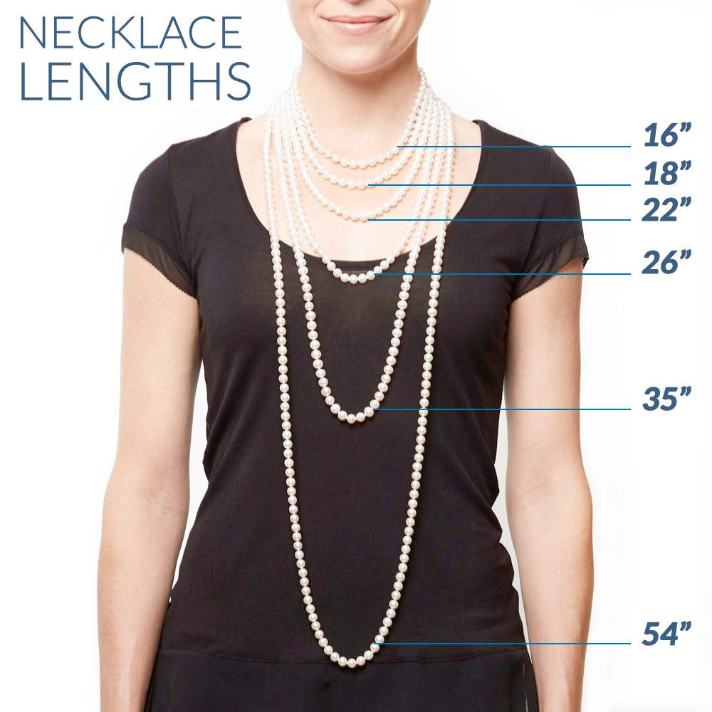 View Different Necklace Lengths