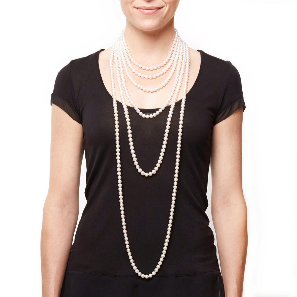 Different Lengths of Pearl Necklaces