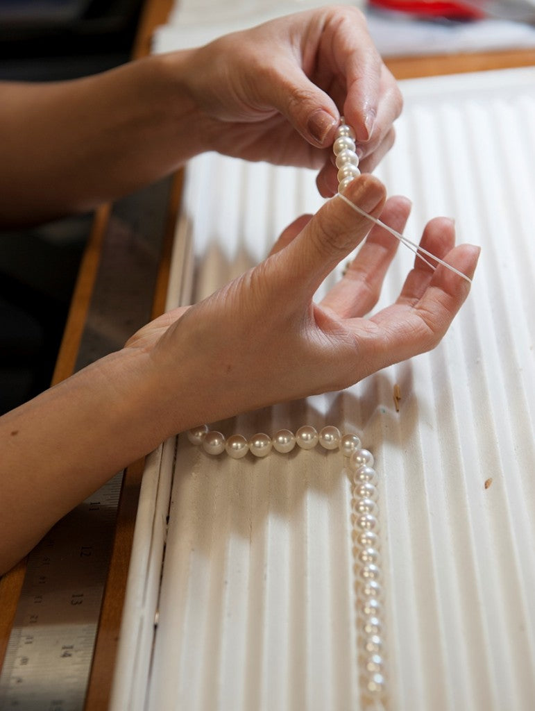 Pearls Being Strung