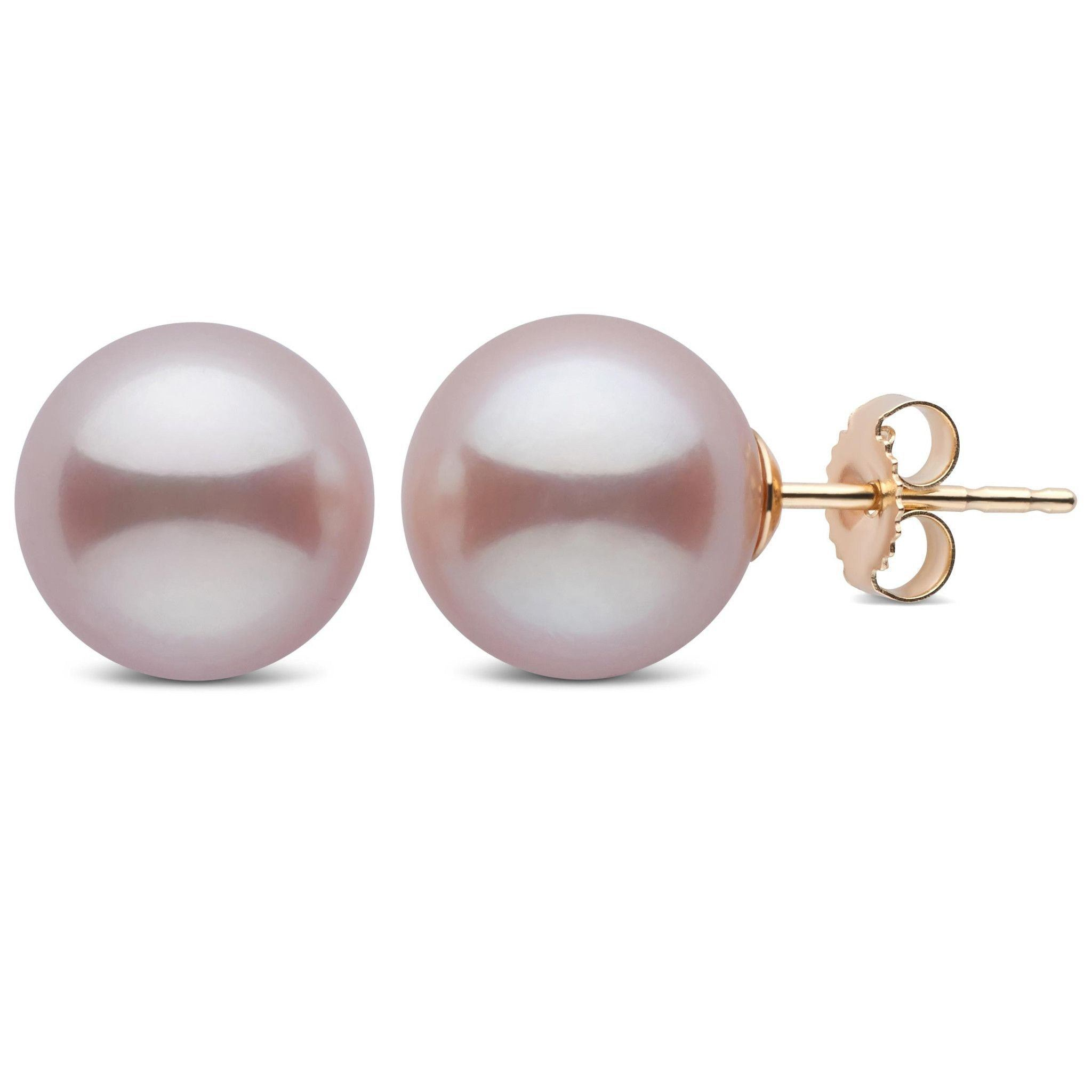 10.0-11.0 mm AAA Lavender Freshwater Pearl Stud Earrings