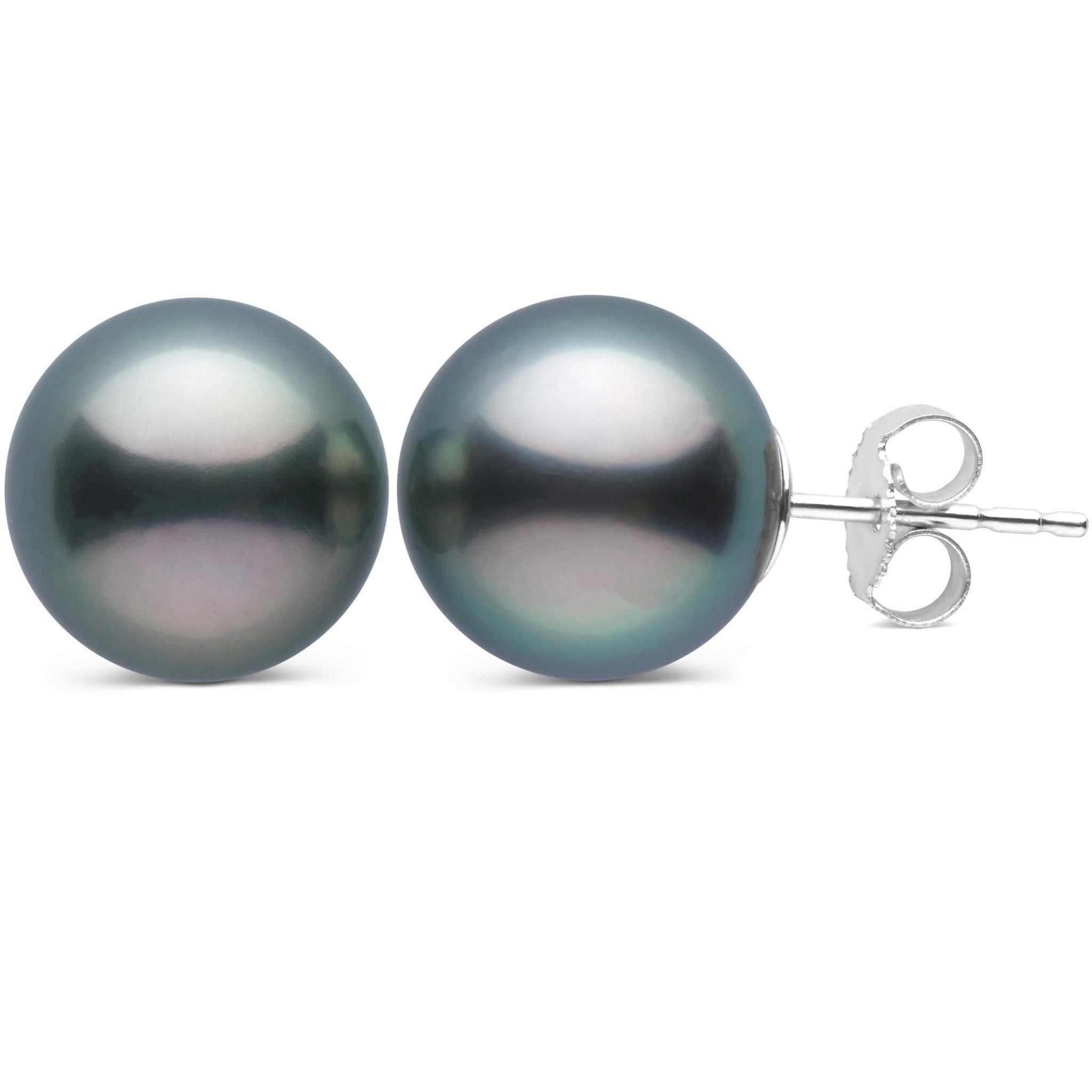 10.0-11.0 mm AAA Tahitian Pearl Stud Earrings