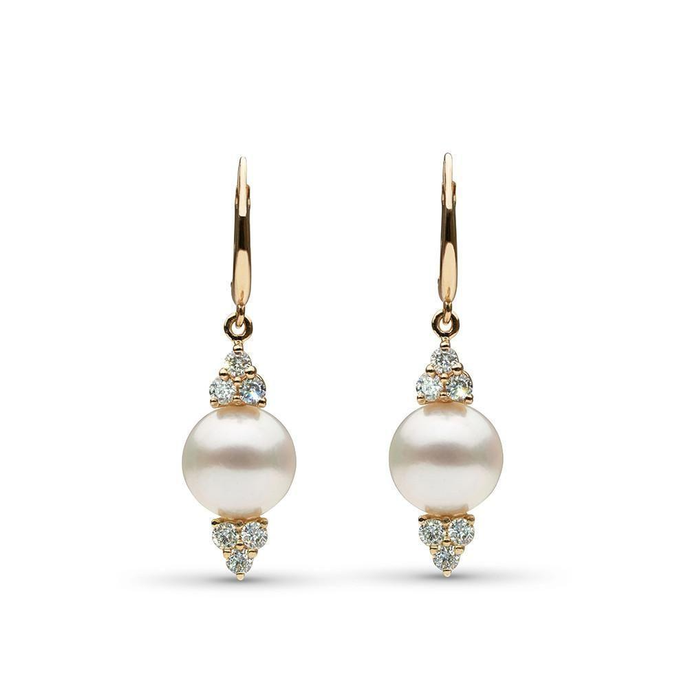 10.0-11.0 mm White South Sea Pearl and Diamond Always Earrings