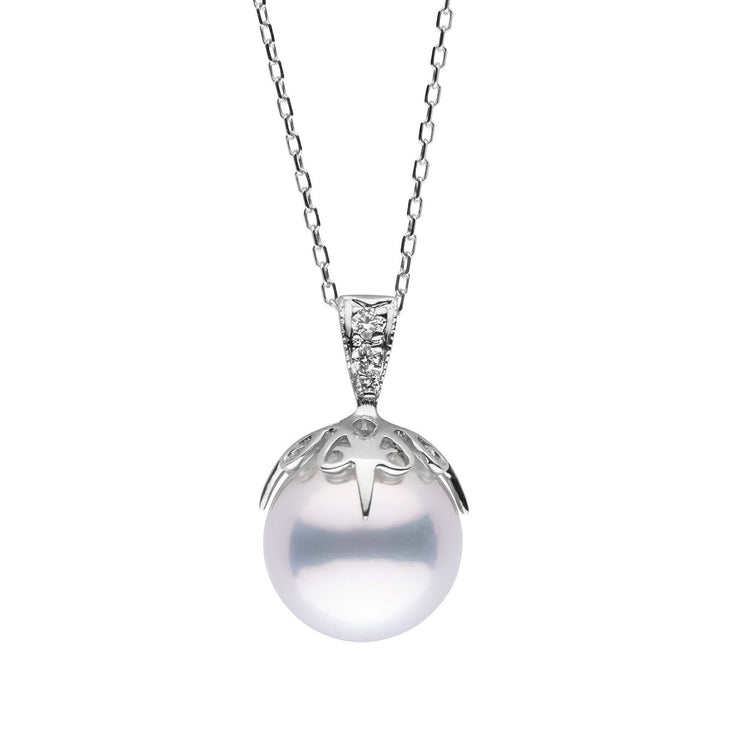 10.0-11.0 mm White South Sea Pearl and Diamond Capture Pendant