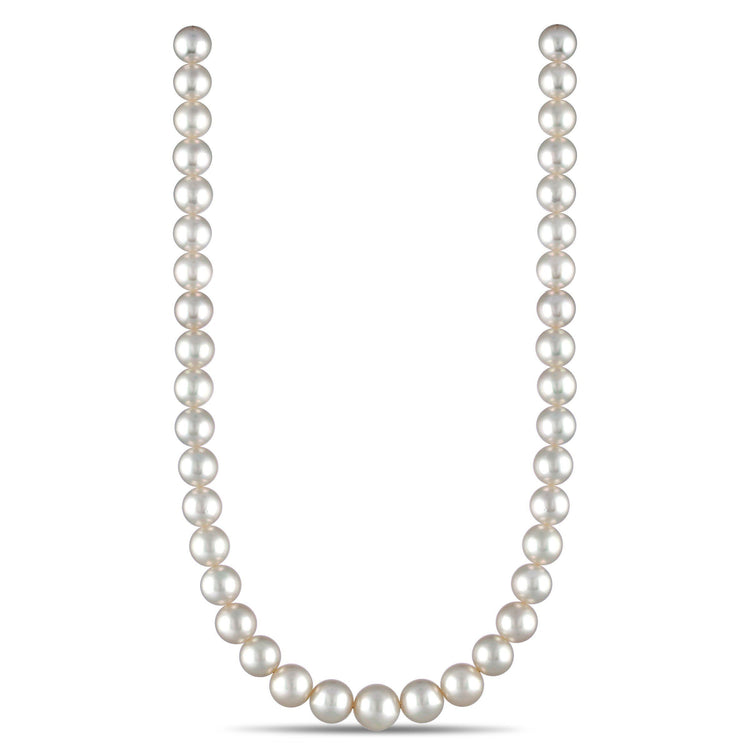 10.0-12.3 mm AA+/AAA Round White South Sea Necklace