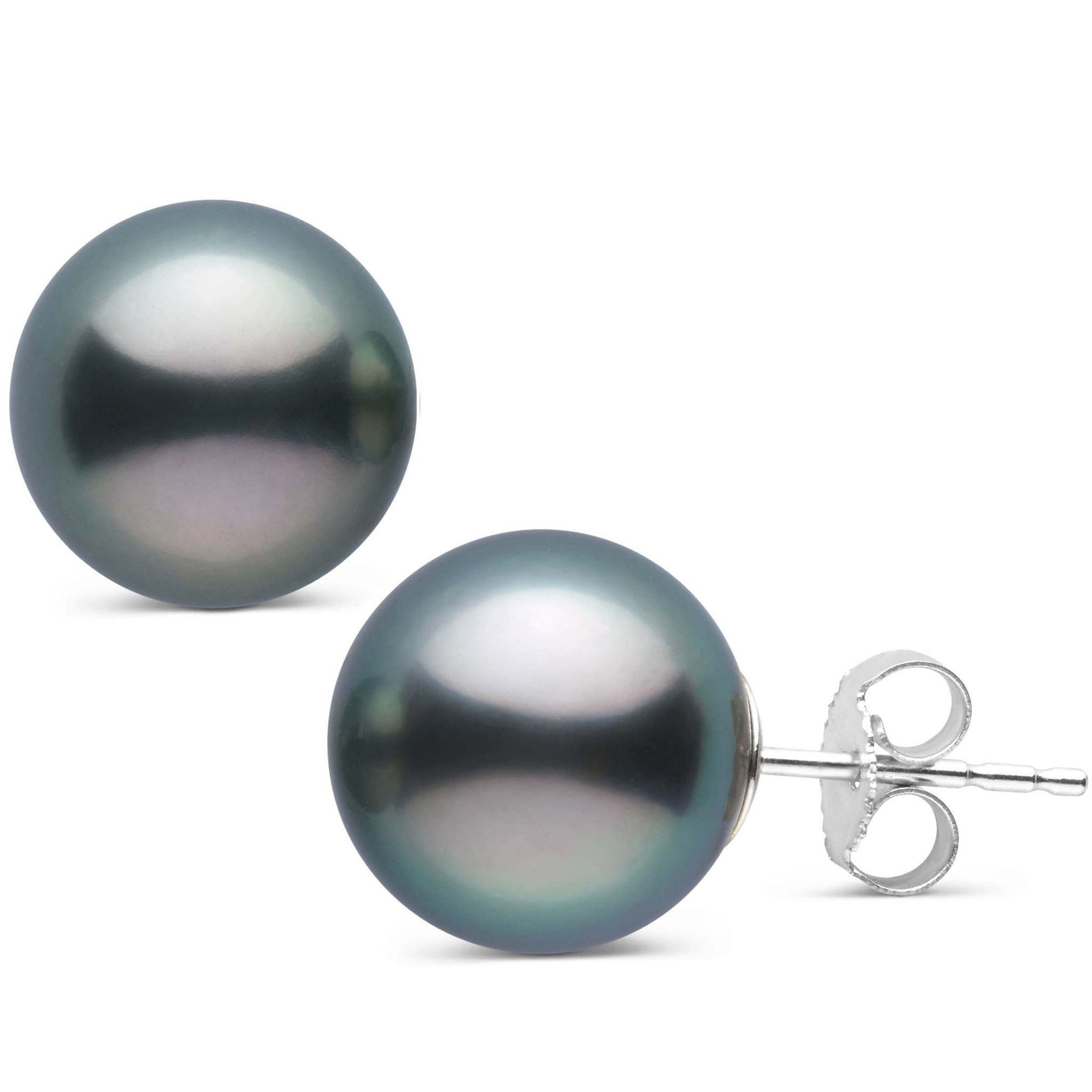 11.0-12.0 mm AAA Tahitian Pearl Stud Earrings