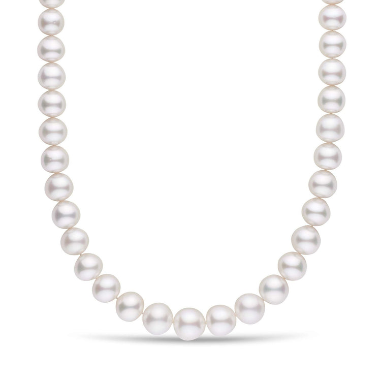 11.0-14.0 mm Near Round AA+/AAA White South Sea Pearl Necklace