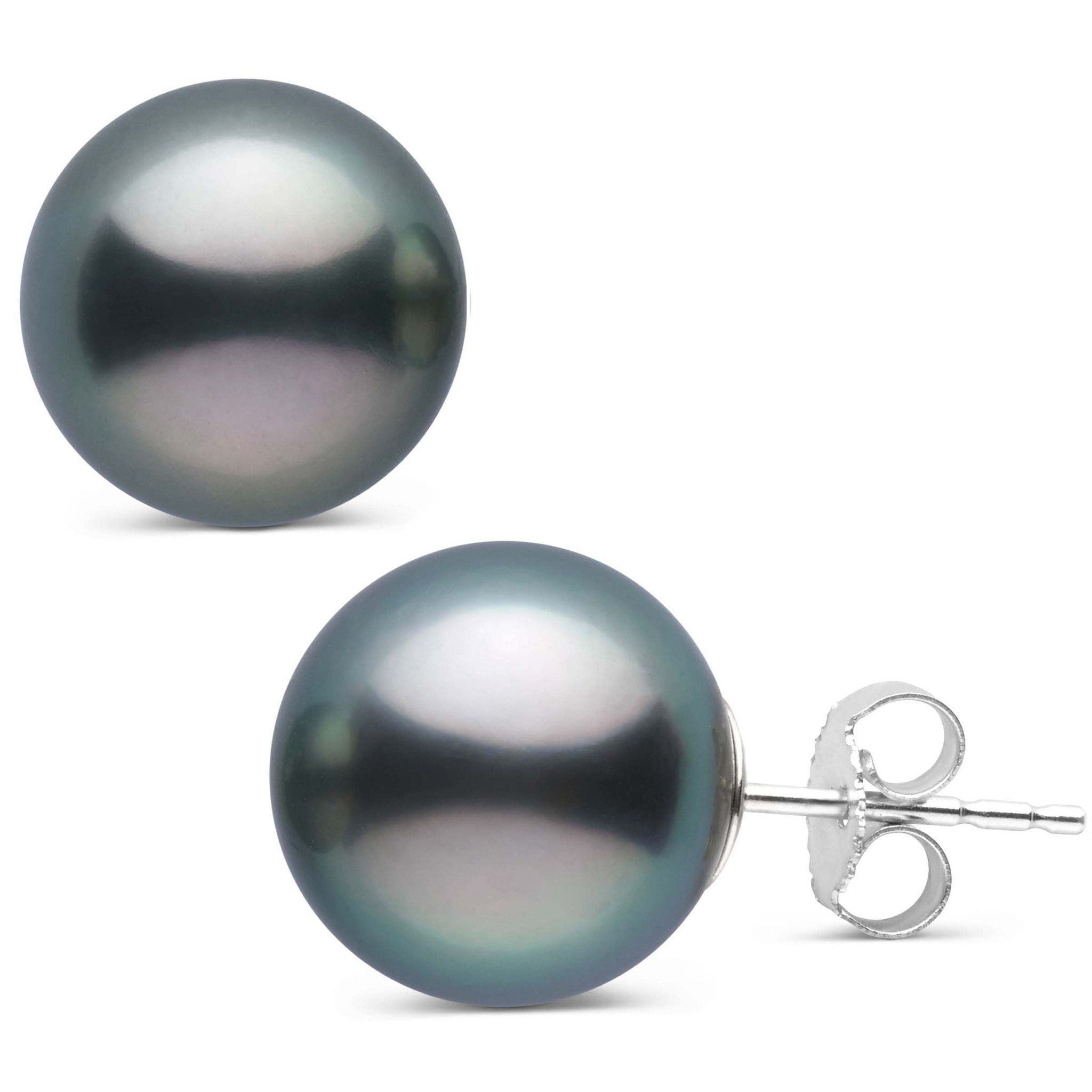12.0-13.0 mm AAA Tahitian Pearl Stud Earrings