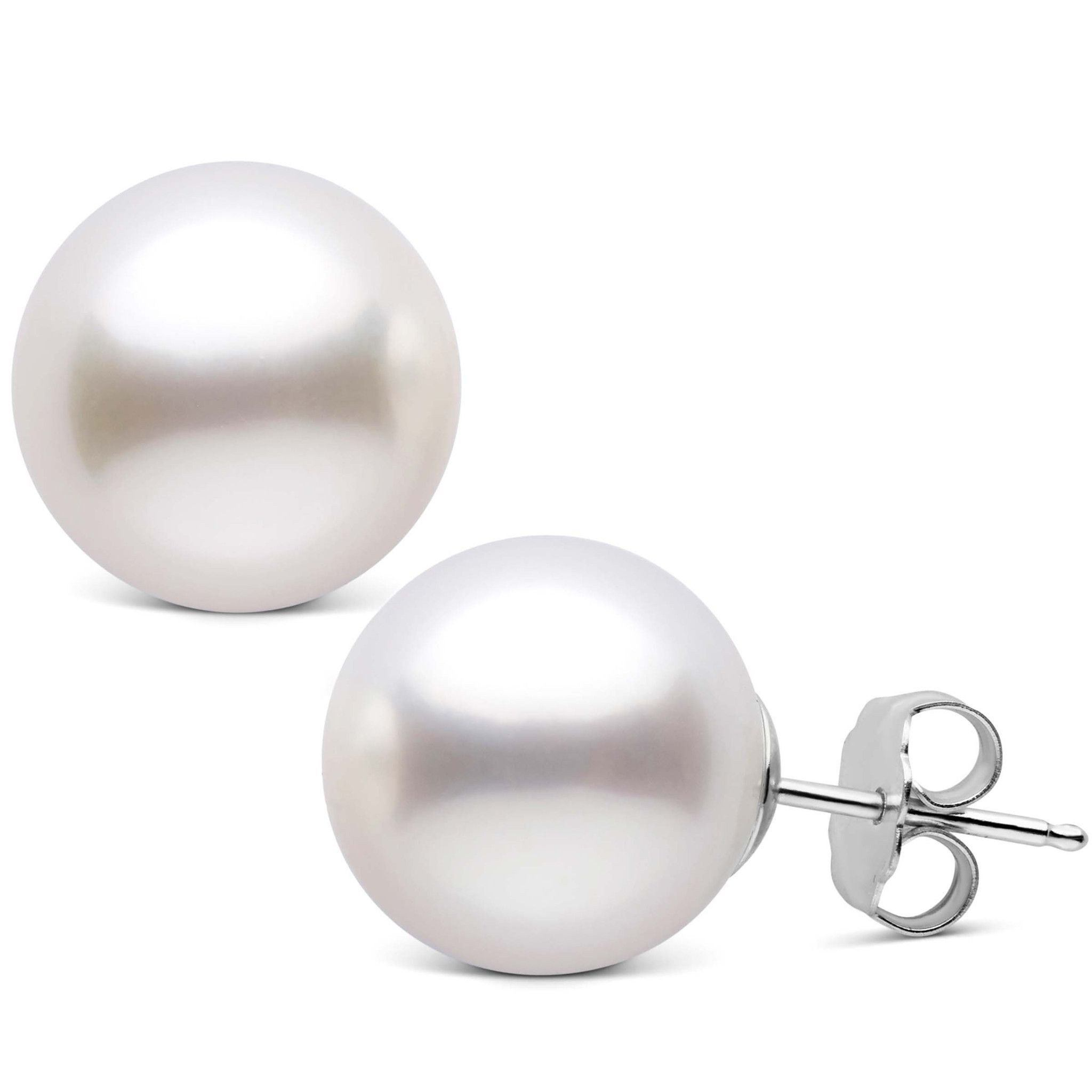 12.0-13.0 mm AAA White South Sea Pearl Stud Earrings