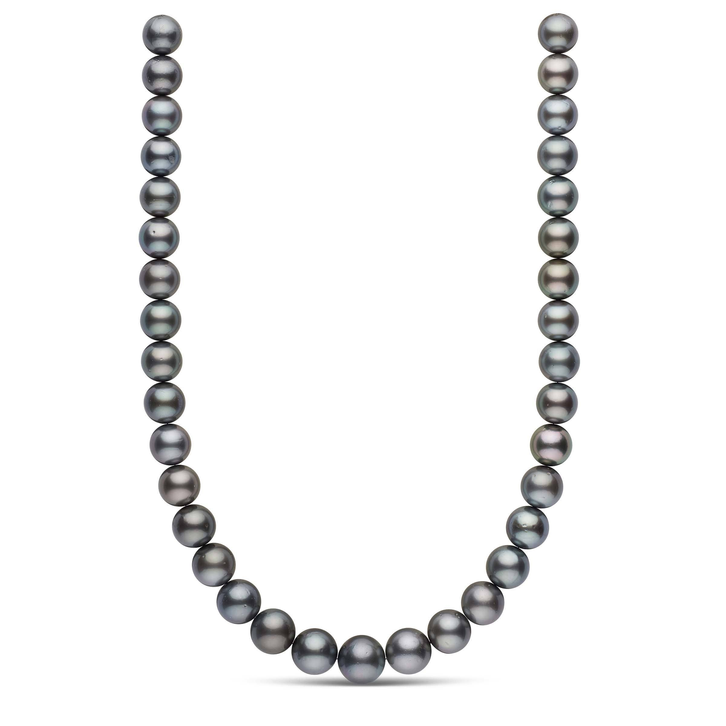 12.0-14.7 mm AA+ Round Tahitian Pearl Necklace