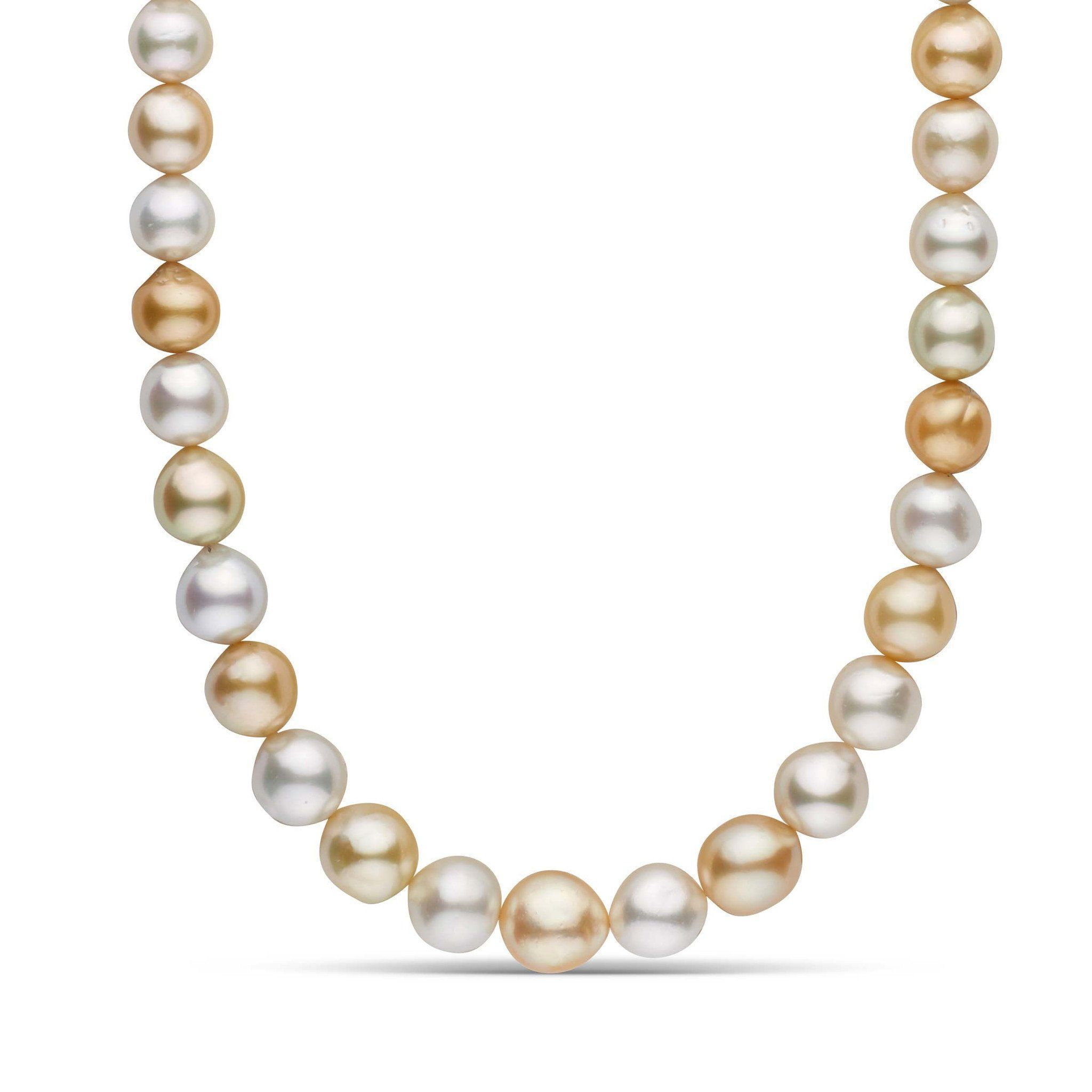 12.4-15.5 mm AA+/AAA Drop Multicolor South Sea Pearl Necklace