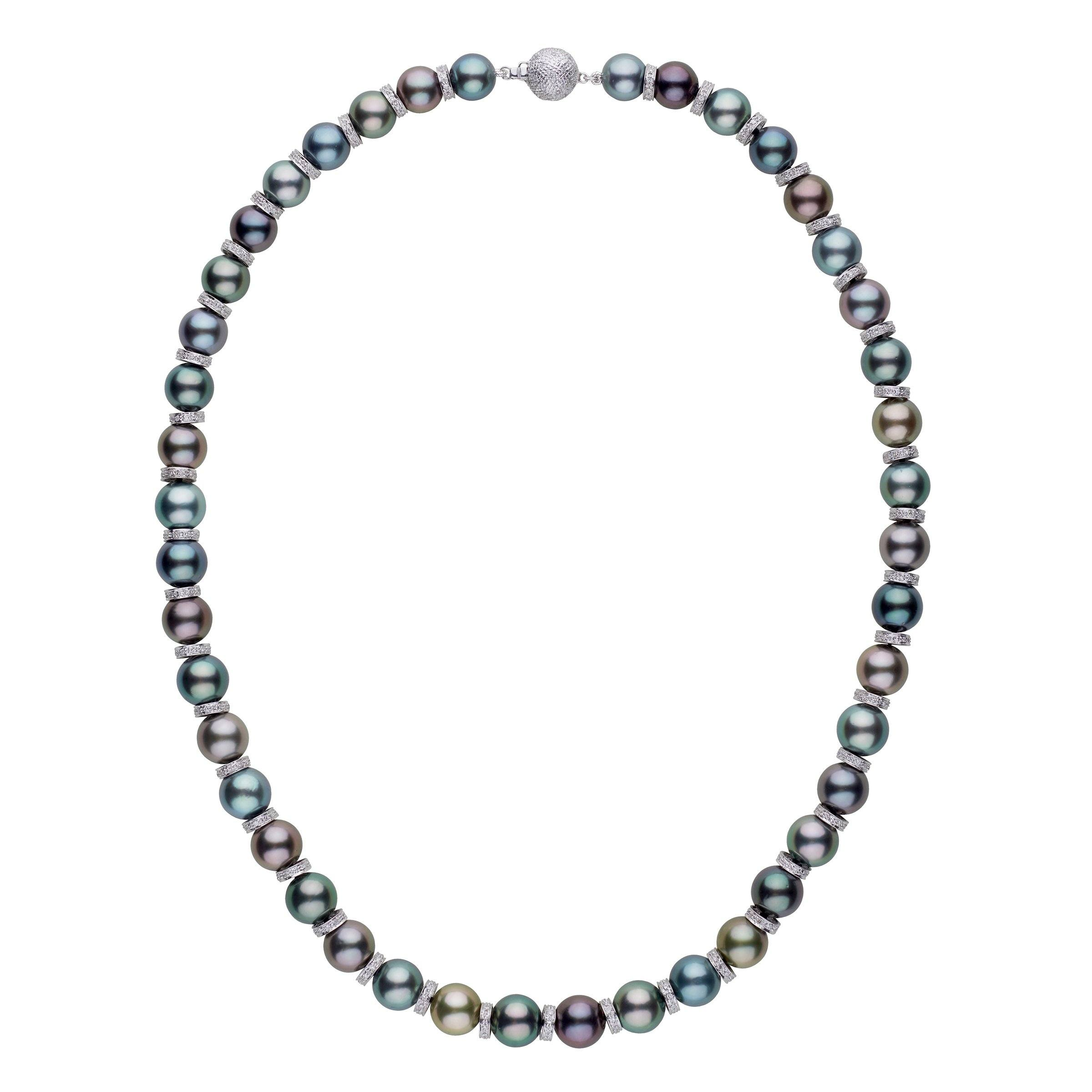 Celestial Tahitian Pearl and Diamond Necklace