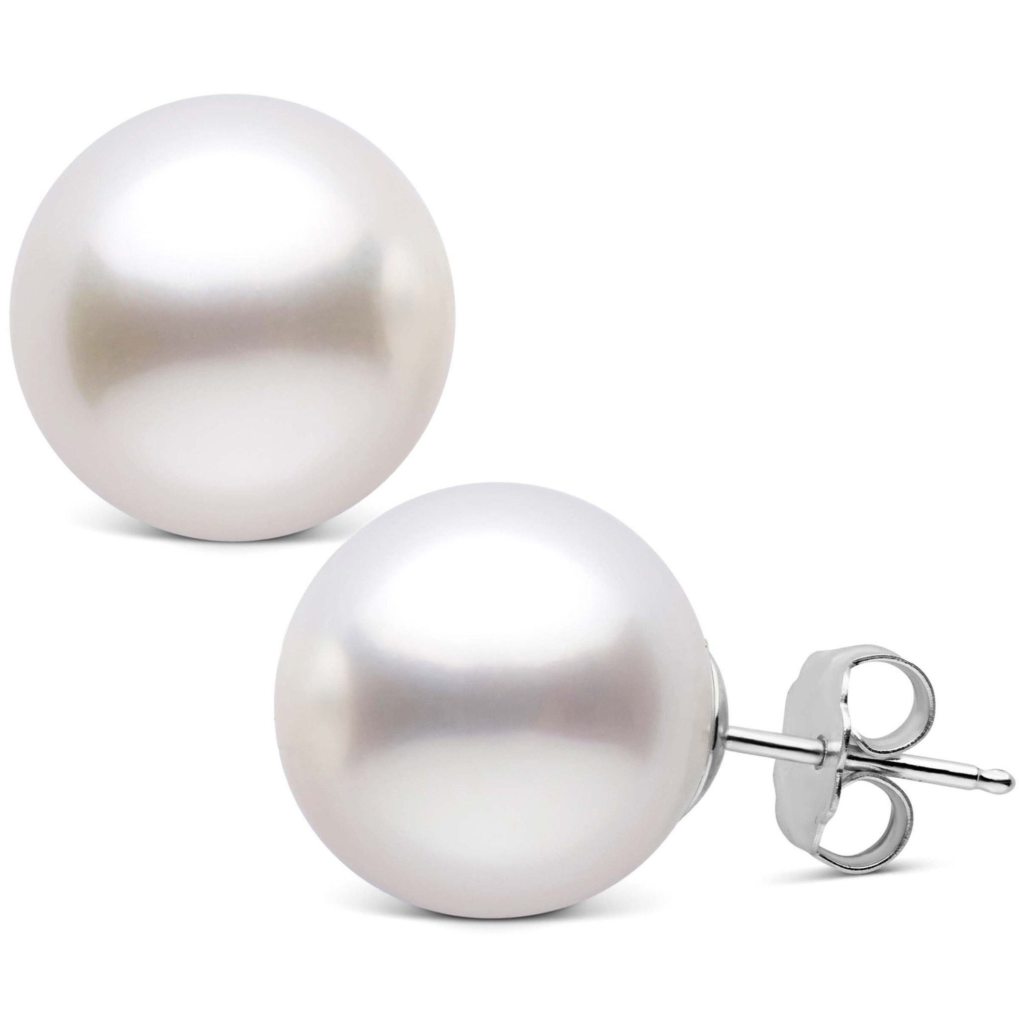 13.0-14.0 mm AAA White South Sea Pearl Stud Earrings