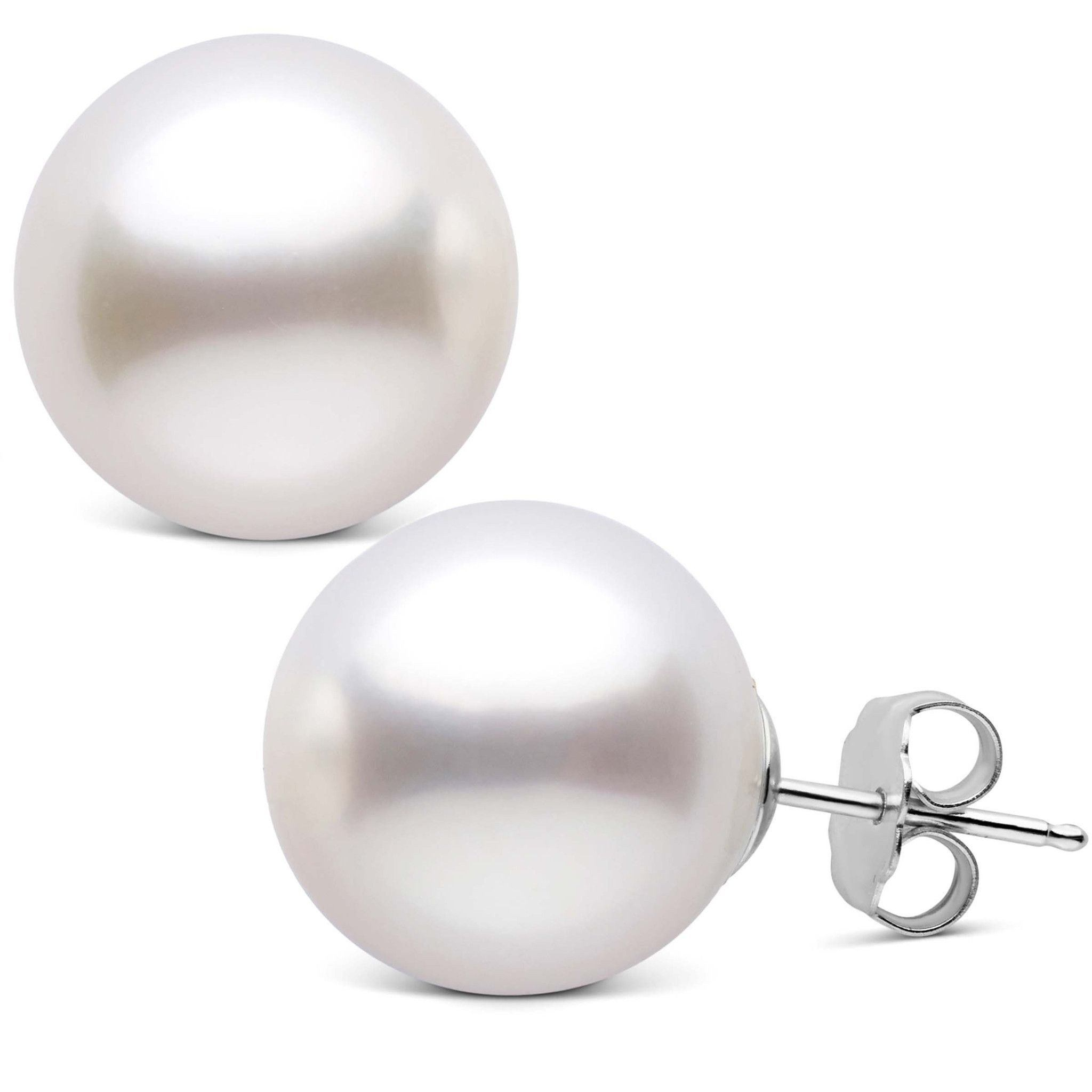 14.0-15.0 mm AAA White South Sea Pearl Stud Earrings