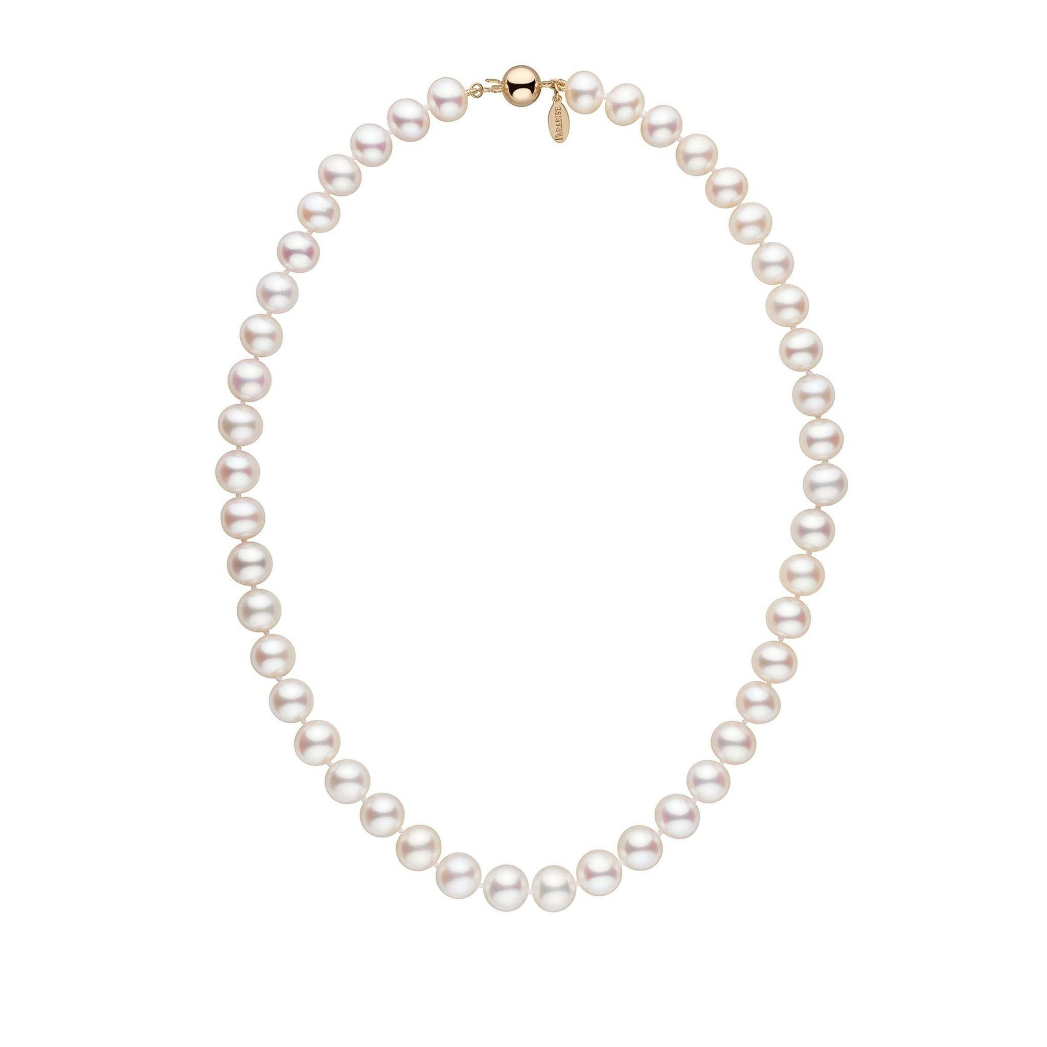 9.0-9.5 mm 16 Inch White Freshadama Freshwater Pearl Necklace