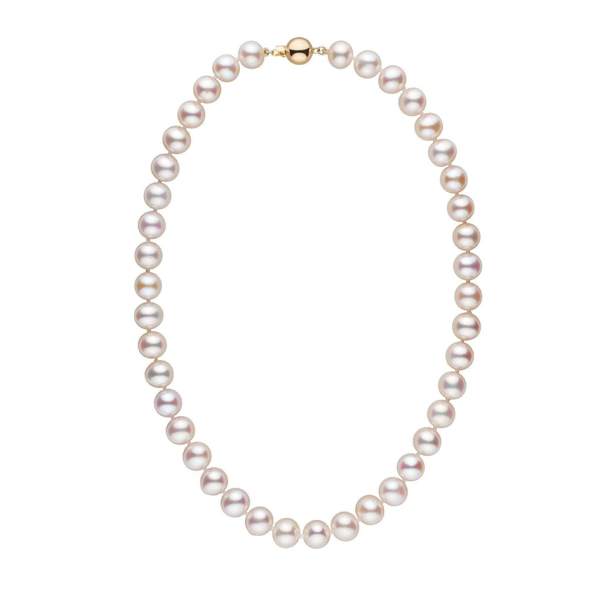 17.5-inch 10.5-11.5 mm AAA White Freshwater Pearl Necklace