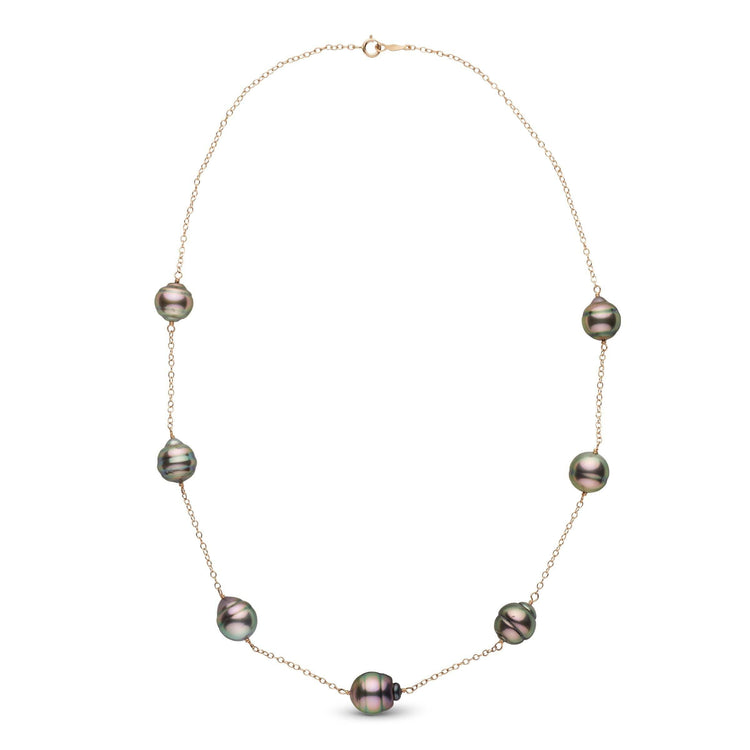 18-inch 10.0-11.0 mm Baroque Tahitian Pearl Tin Cup Necklace