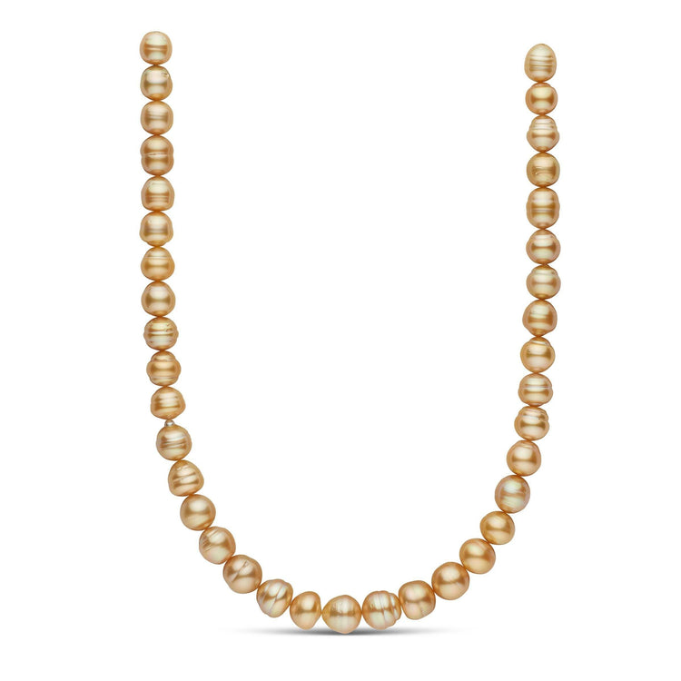 18-inch 10.0-11.9 mm AA+/AAA Baroque Golden South Sea Pearl Necklace