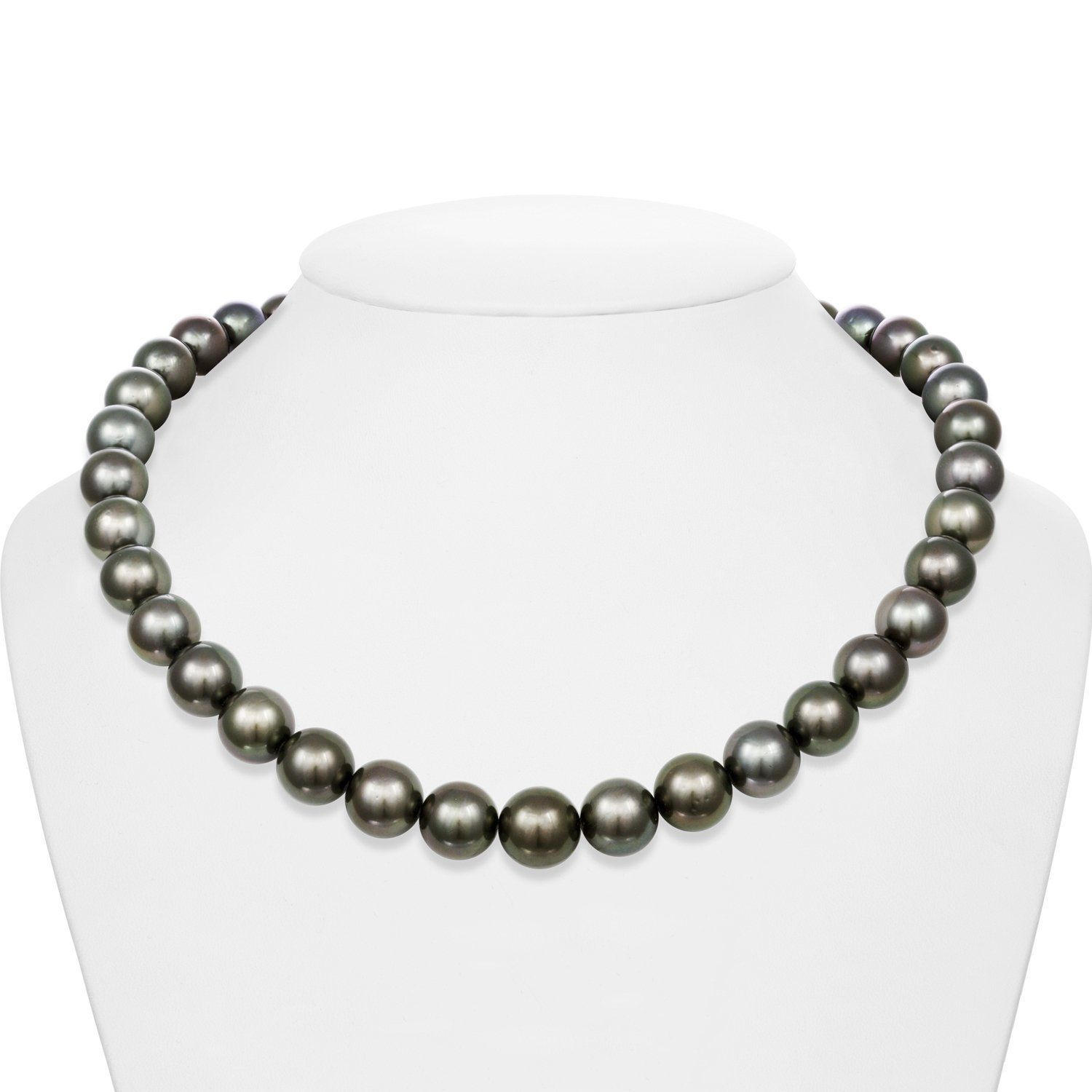 10.0-12.4 mm AA+/AAA Tahitian Round Pearl Necklace
