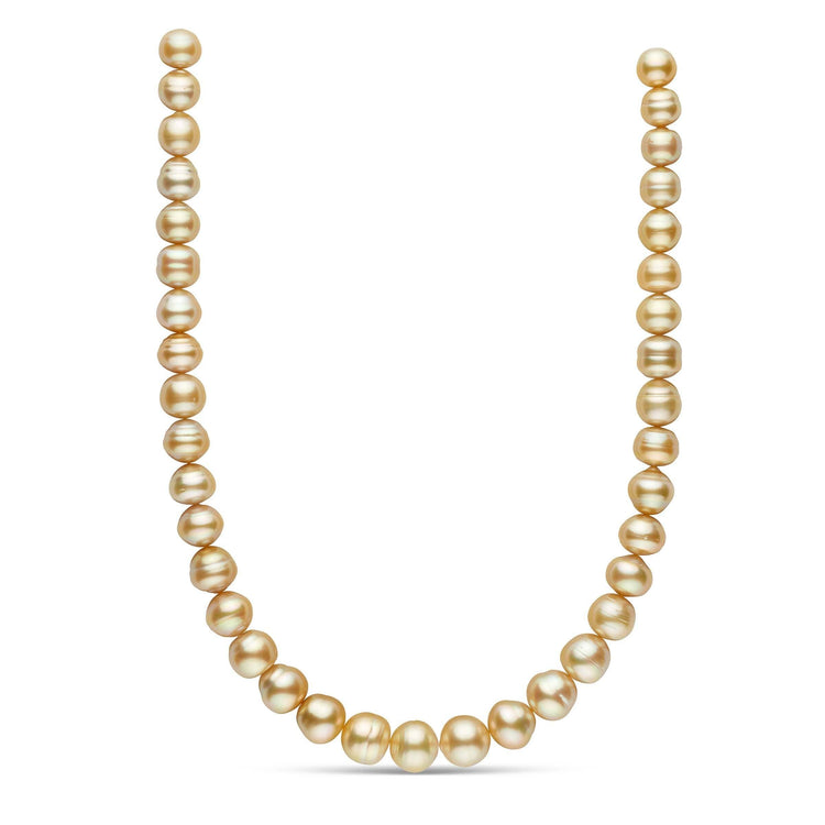 18-inch 10.0-12.9 mm AA+/AAA Baroque Golden South Sea Pearl Necklace