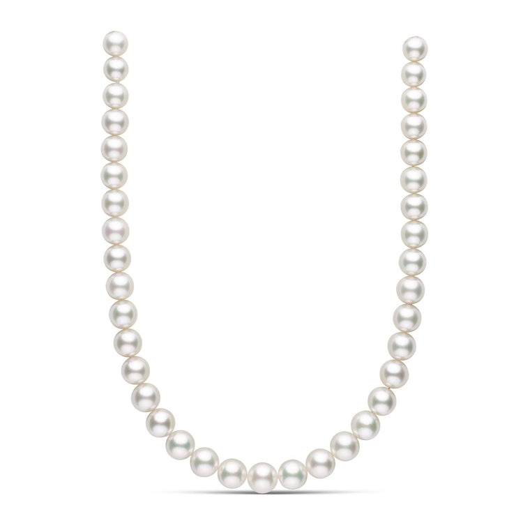 18 inch 10.2-12.3 mm AAA White South Sea Round Pearl Necklace
