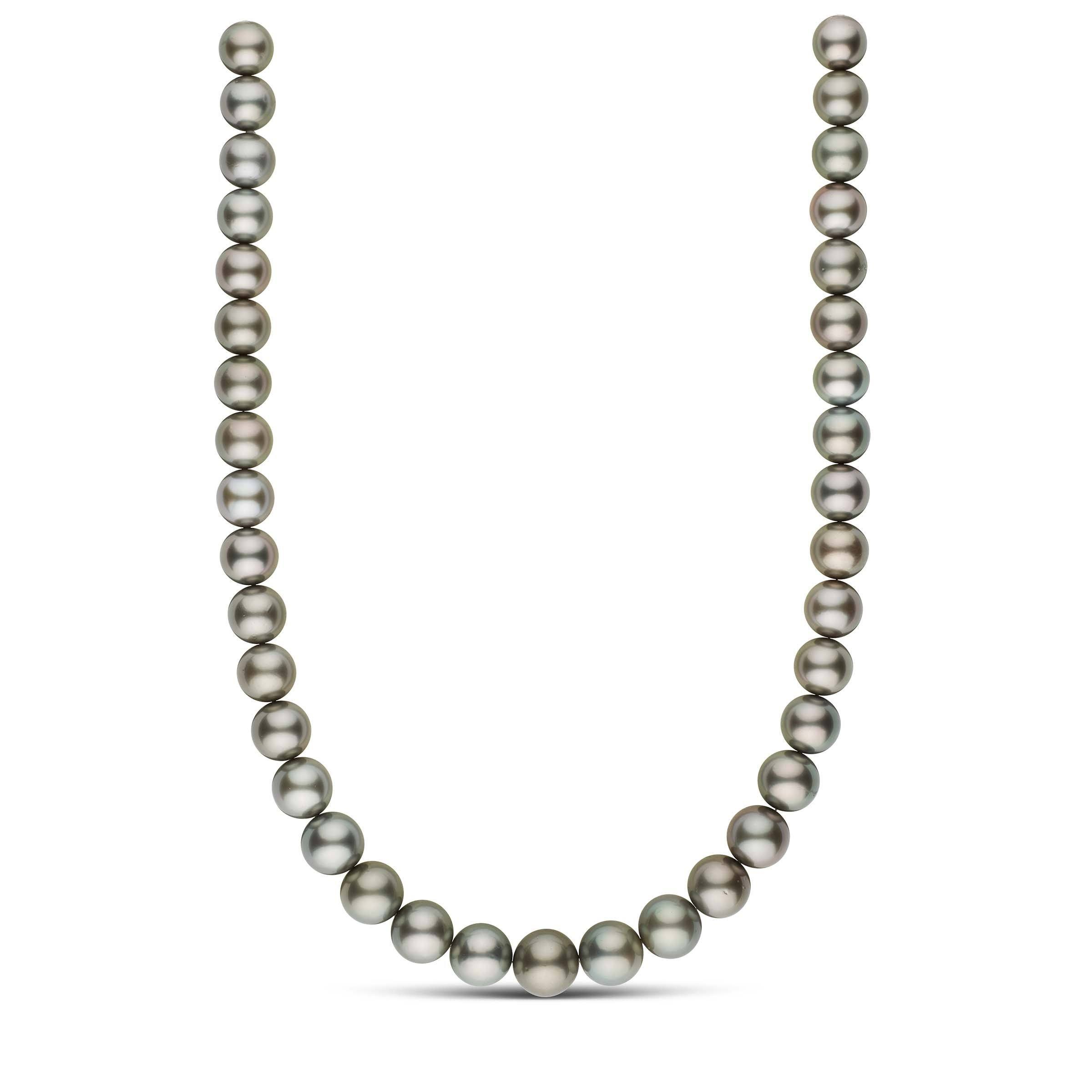 18-inch 11.0-13.3 mm AA+/AAA Round Tahitian Pearl Necklace