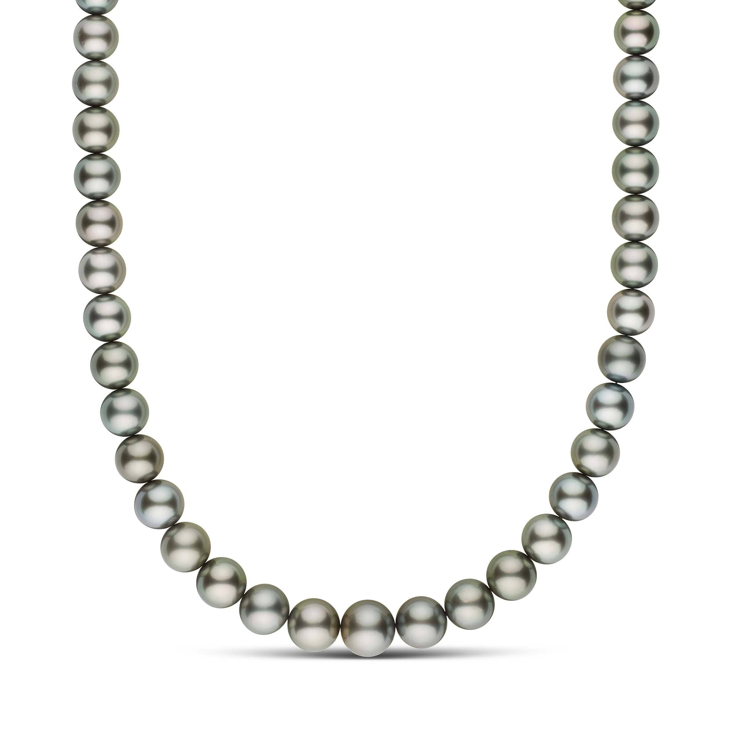 18-inch 11.0-13.9 mm AAA Round Tahitian Pearl Necklace