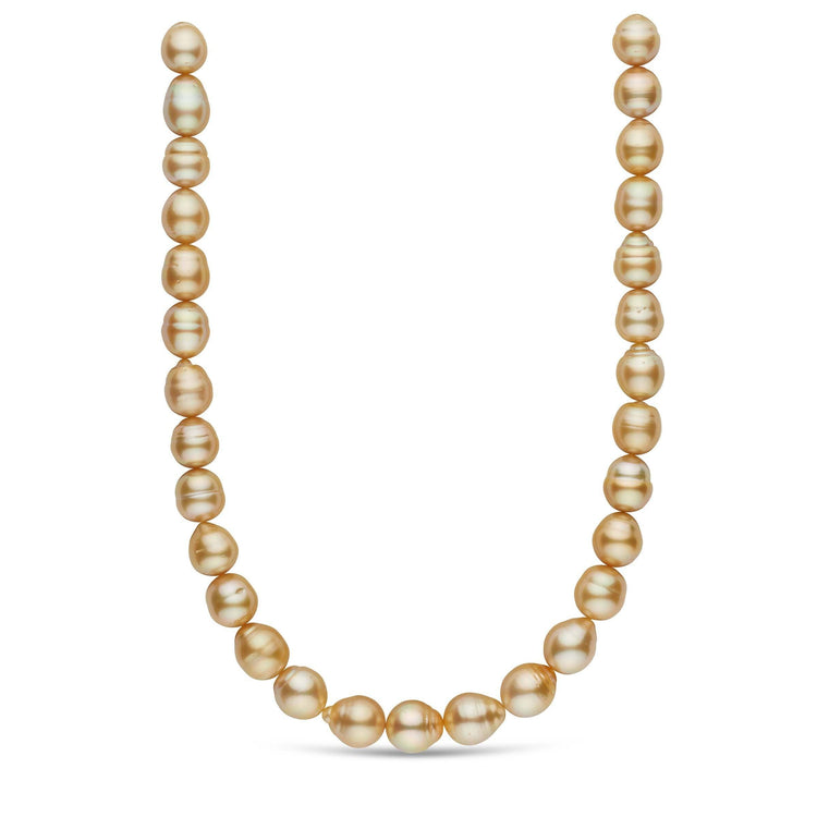 18-inch 12.3-13.9 mm AA+/AAA Baroque Golden South Sea Pearl Necklace