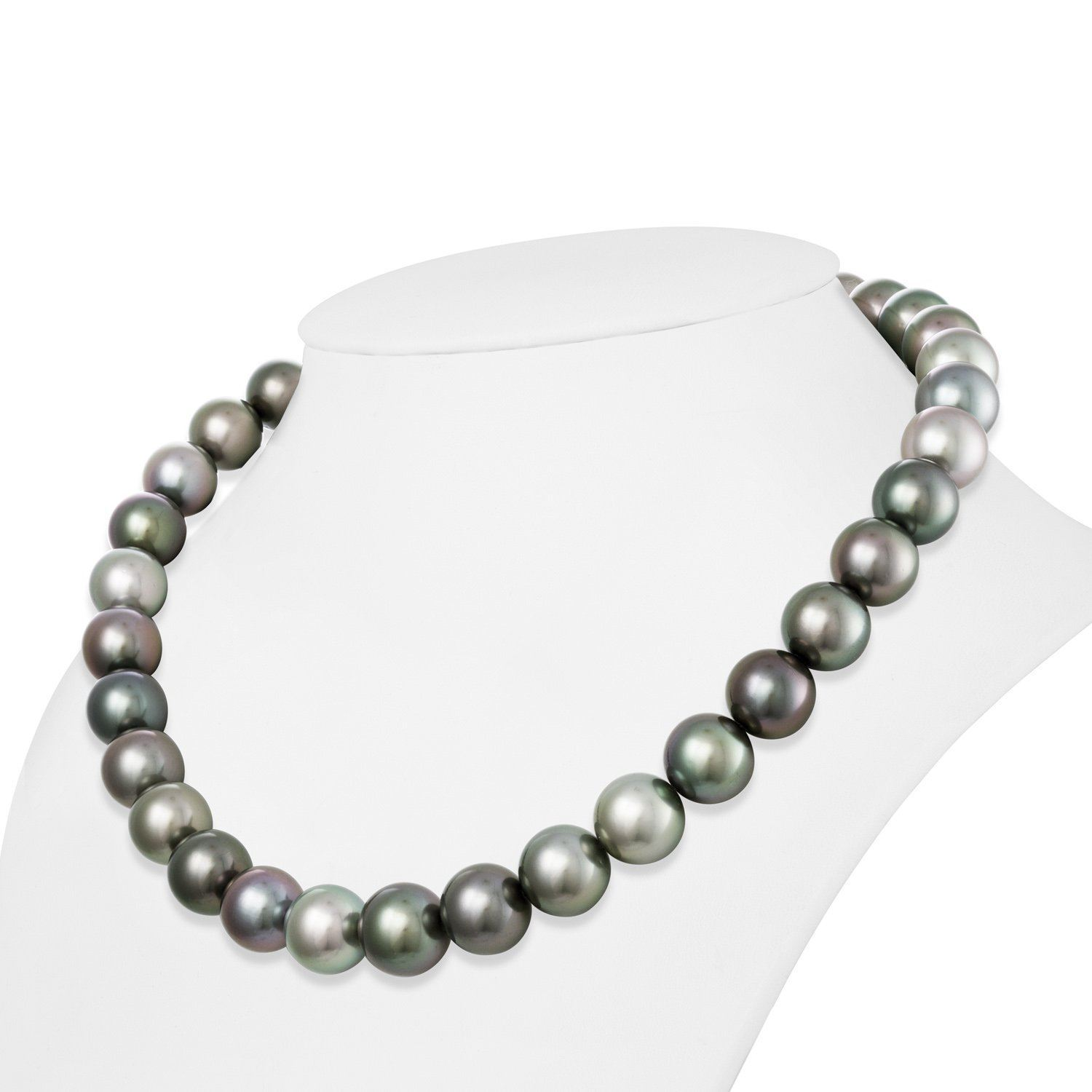 13.0-14.3 mm AAA Tahitian Round Pearl Necklace