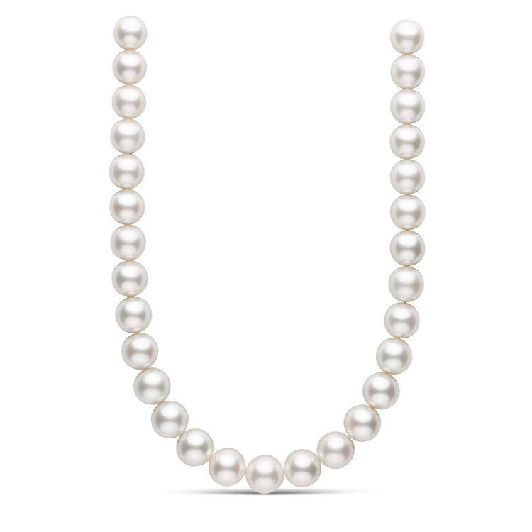 18 inch 14.3-16.1 mm AA+ White South Sea Round Pearl Necklace