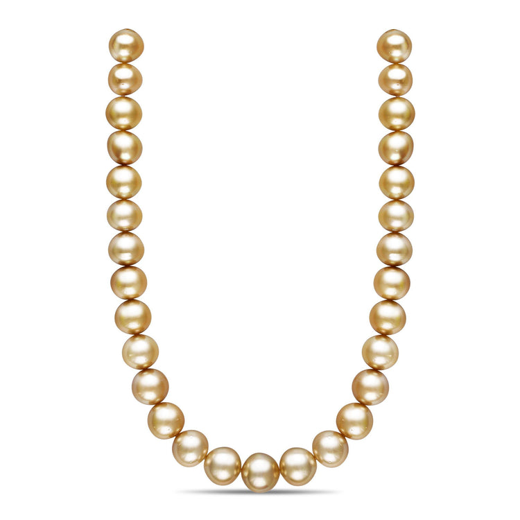 18-inch 15.0-16.8 mm AA+/AAA Button Golden South Sea Pearl Necklace