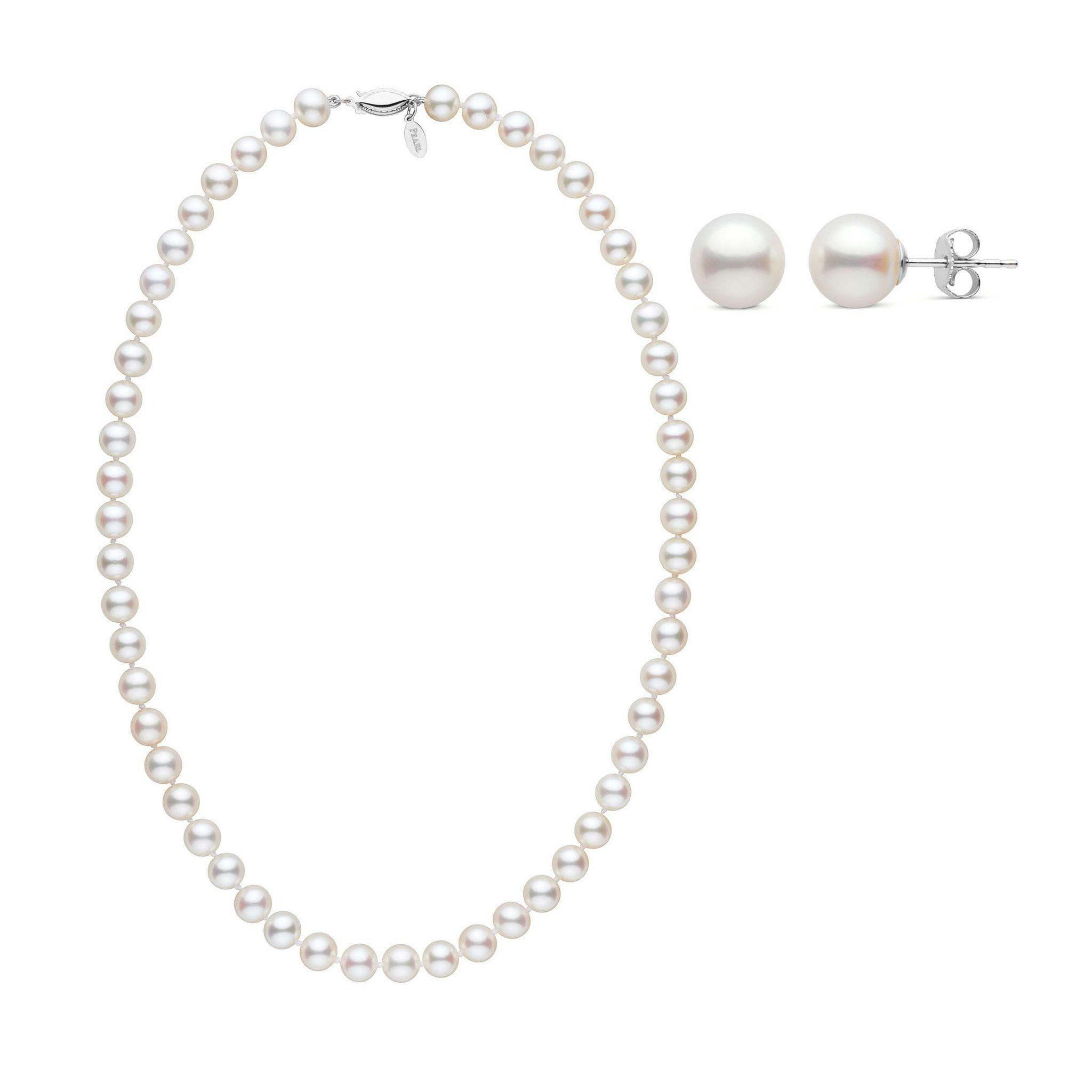 7.5-8.0 mm Freshadama Pearl Necklace & Earring Set