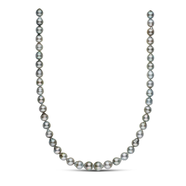 18-inch 8.0-10.0 mm AA+/AAA Drop Tahitian Pearl Necklace