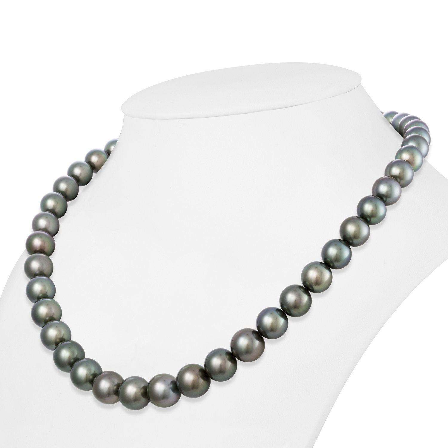 8.0-9.5 mm AAA Tahitian Round Pearl Necklace
