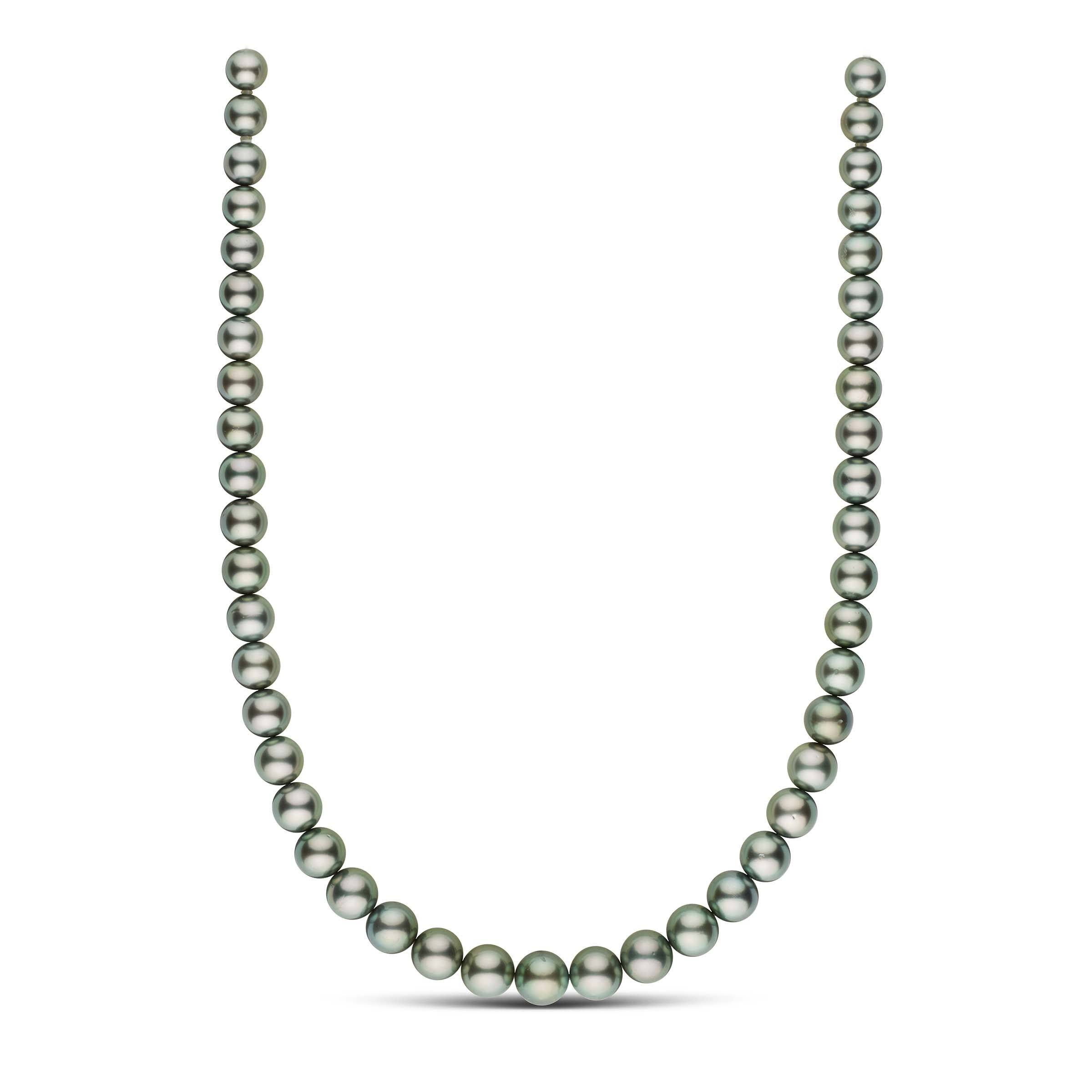 18-inch 8.1-10.6 mm AA+/AAA Round Tahitian Pearl Necklace