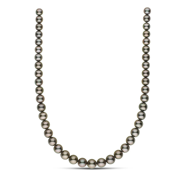 18 inch 8.2-10.8 mm AA+/AAA Round Tahitian Pearl Necklace