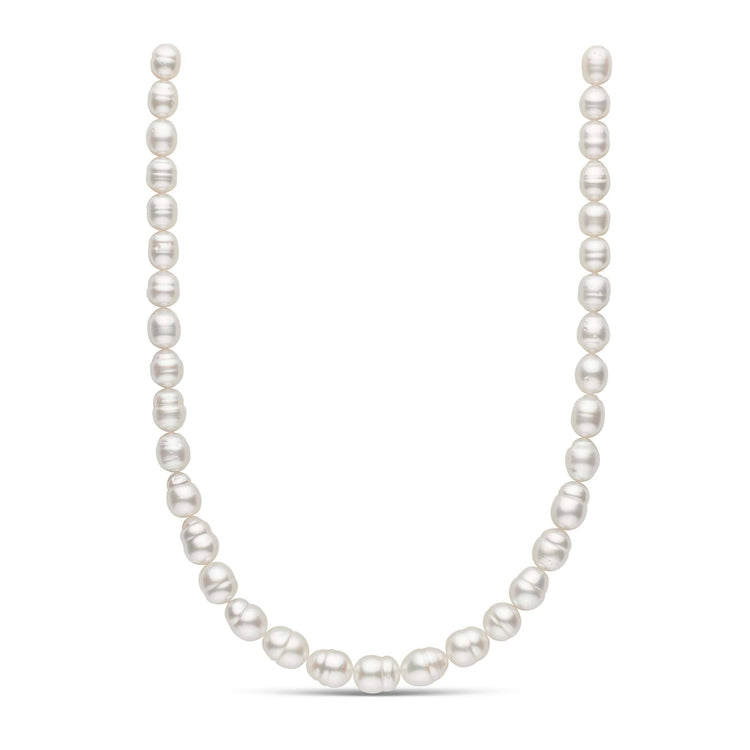 18-inch 8.6-10.7 mm AA+ Baroque White South Sea Pearl Necklace