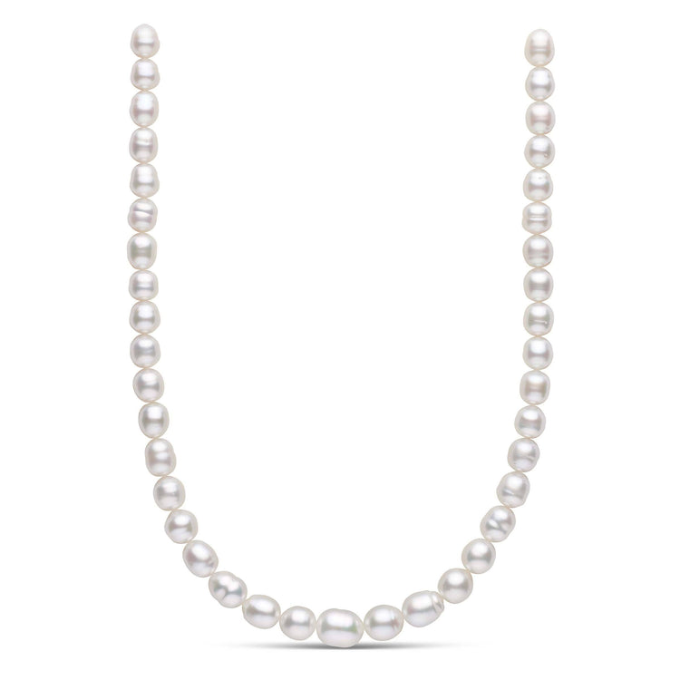 18-inch 9.0-11.5 mm AA+ Baroque White South Sea Pearl Necklace