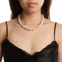 18-inch 9.0-11.6 mm AAA Drop Multicolor South Sea Pearl Necklace