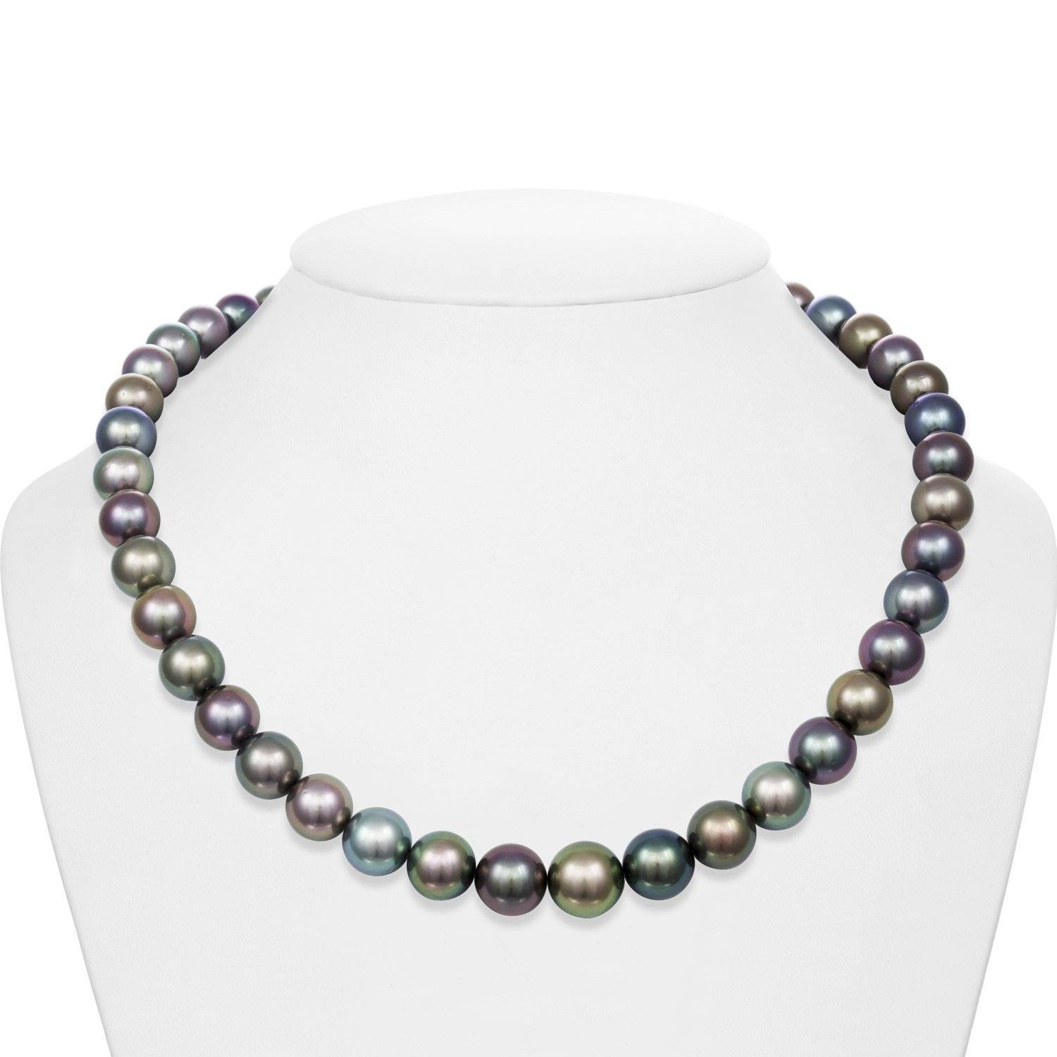9.0-11.7 mm AA+/AAA Tahitian Round Pearl Necklace